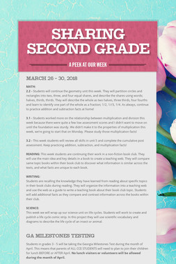 Sharing Second Grade