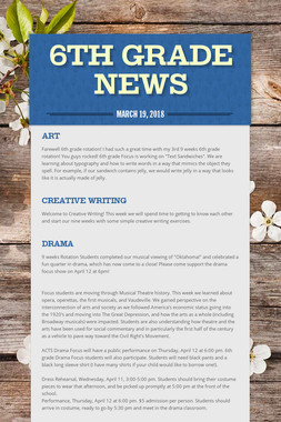 6th Grade News