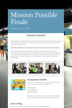 Mission Possible Finale