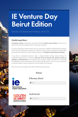 IE Venture Day Beirut Edition