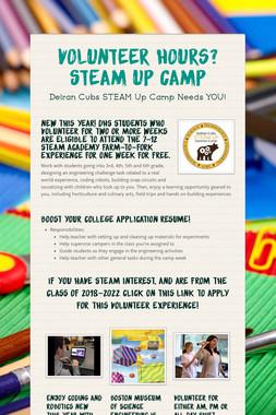 Volunteer Hours?  STEAM Up Camp