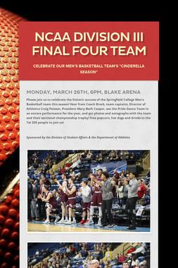 NCAA Division III Final Four Team
