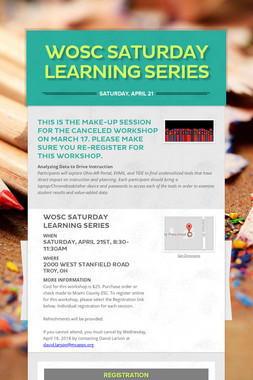 WOSC Saturday Learning Series