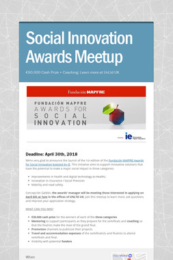Social Innovation Awards Meetup
