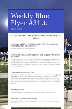 Weekly Blue Flyer #31   ⚓️