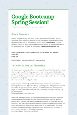 Google Bootcamp   Spring Session!