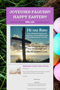 Joyeuses Pâques!!! Happy Easter!!!