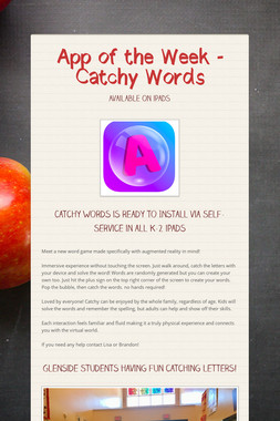 App of the Week - Catchy Words