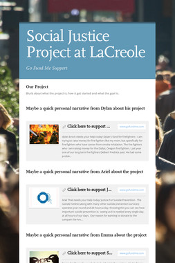 Social Justice Project at LaCreole
