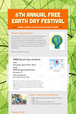 6th Annual FREE Earth day Festival