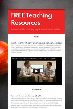 FREE Teaching Resources