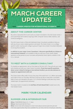 March Career Updates