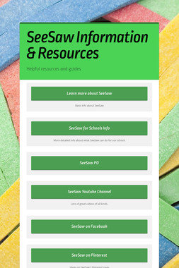 SeeSaw Information & Resources