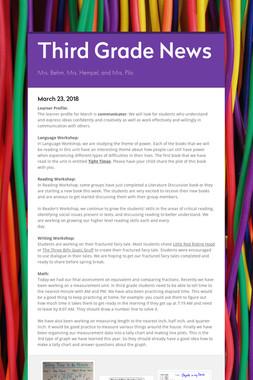 Third Grade News