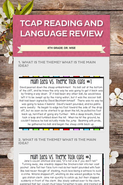 TCAP Reading and Language Review
