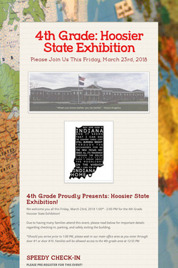 4th Grade: Hoosier State Exhibition