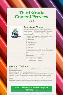Third Grade Content Preview