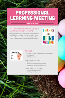 Professional Learning Meeting
