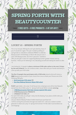 Spring Forth with Beautycounter