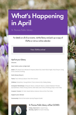 What's Happening in April