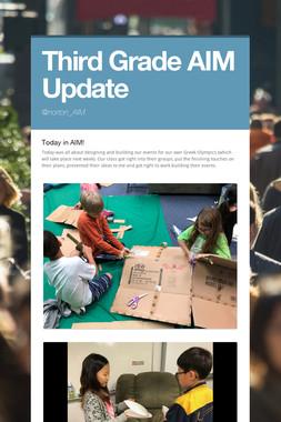 Third Grade AIM Update