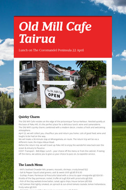 Old Mill Cafe Tairua