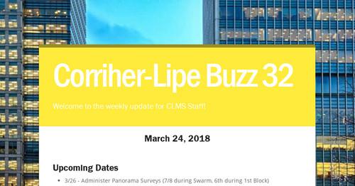 Corriher-Lipe Buzz 32 | Smore Newsletters for Education