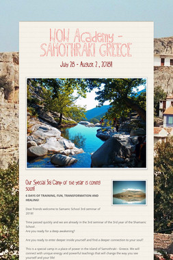 WOW Academy - SAMOTHRAKI GREECE