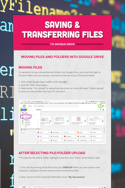 Saving & Transferring Files