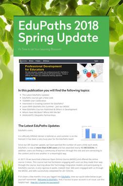 EduPaths 2018 Spring Update