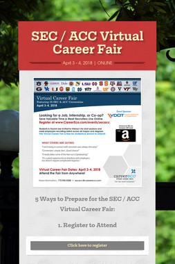 SEC / ACC Virtual Career Fair