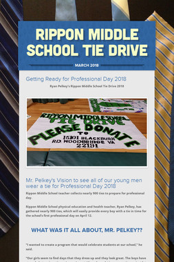Rippon Middle School Tie Drive