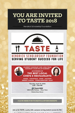 YOU ARE INVITED TO TASTE 2018
