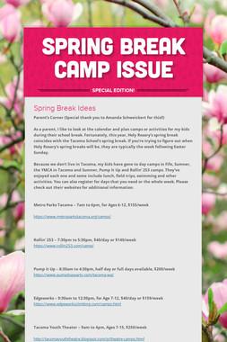 Spring Break Camp Issue
