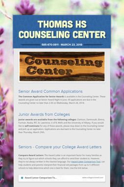 Thomas HS Counseling Center