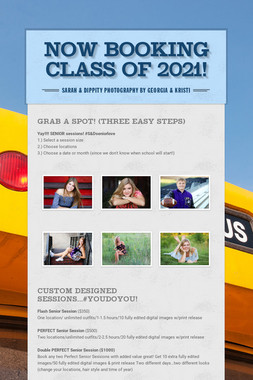 Now booking          Class of 2020!