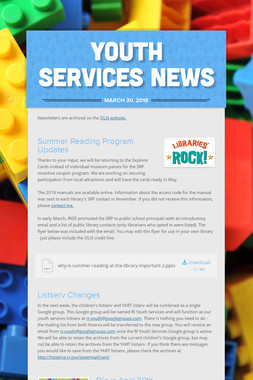 Youth Services News