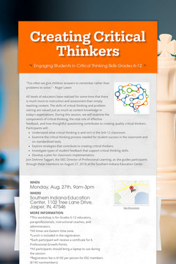 Creating Critical Thinkers