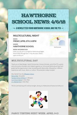 Hawthorne School News: 4/6/18