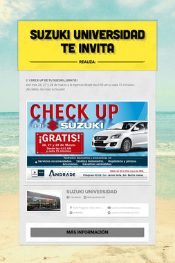 Suzuki Universidad te invita