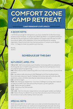 Comfort Zone Camp Retreat