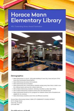 Horace Mann Elementary Library
