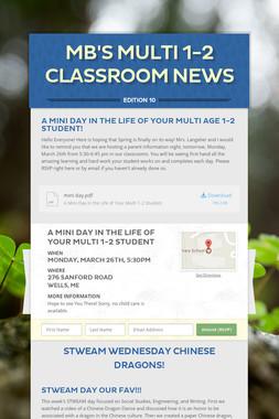 MB's Multi 1-2 Classroom News