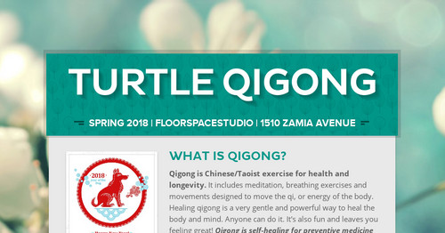 Turtle Qigong | Smore Newsletters for Education