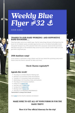 Weekly Blue Flyer #32   ⚓️