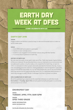 EARTH DAY WEEK AT DFES