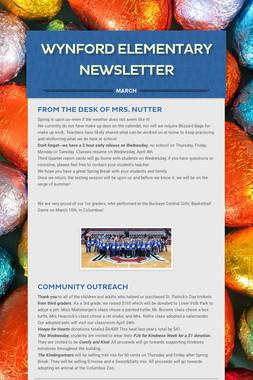 Wynford Elementary Newsletter