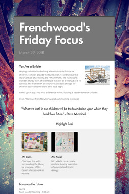 Frenchwood's Friday Focus