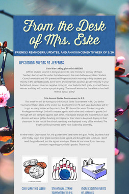 From the Desk of Mrs. Eske