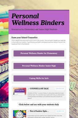 Personal Wellness Binders